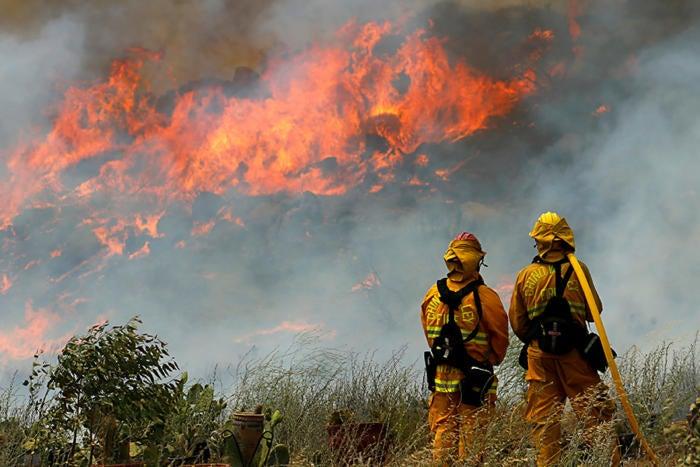 fire chino hills california
