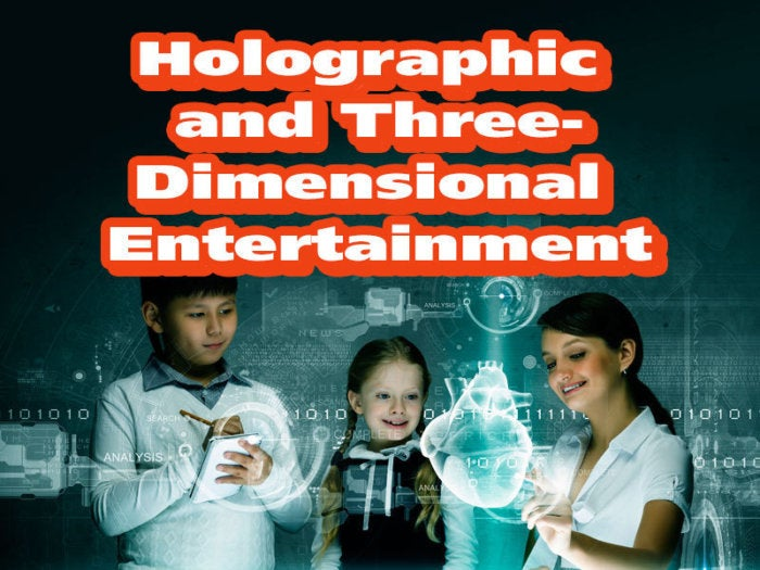 Holographic and Three-Dimensional Entertainment