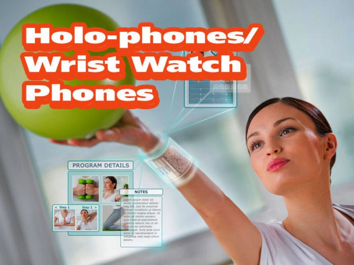 Holo-phones/Wrist Watch Phones