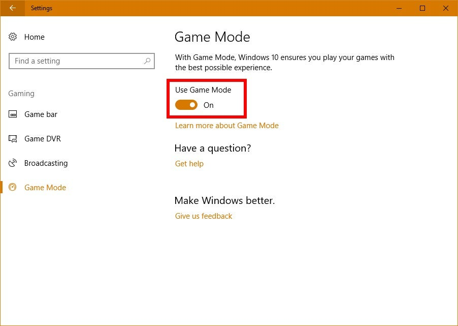 How to activate game mode in the windows 10 creators update pcworld windows 10 tricks tips and tweaks gamemode ccuart Image collections