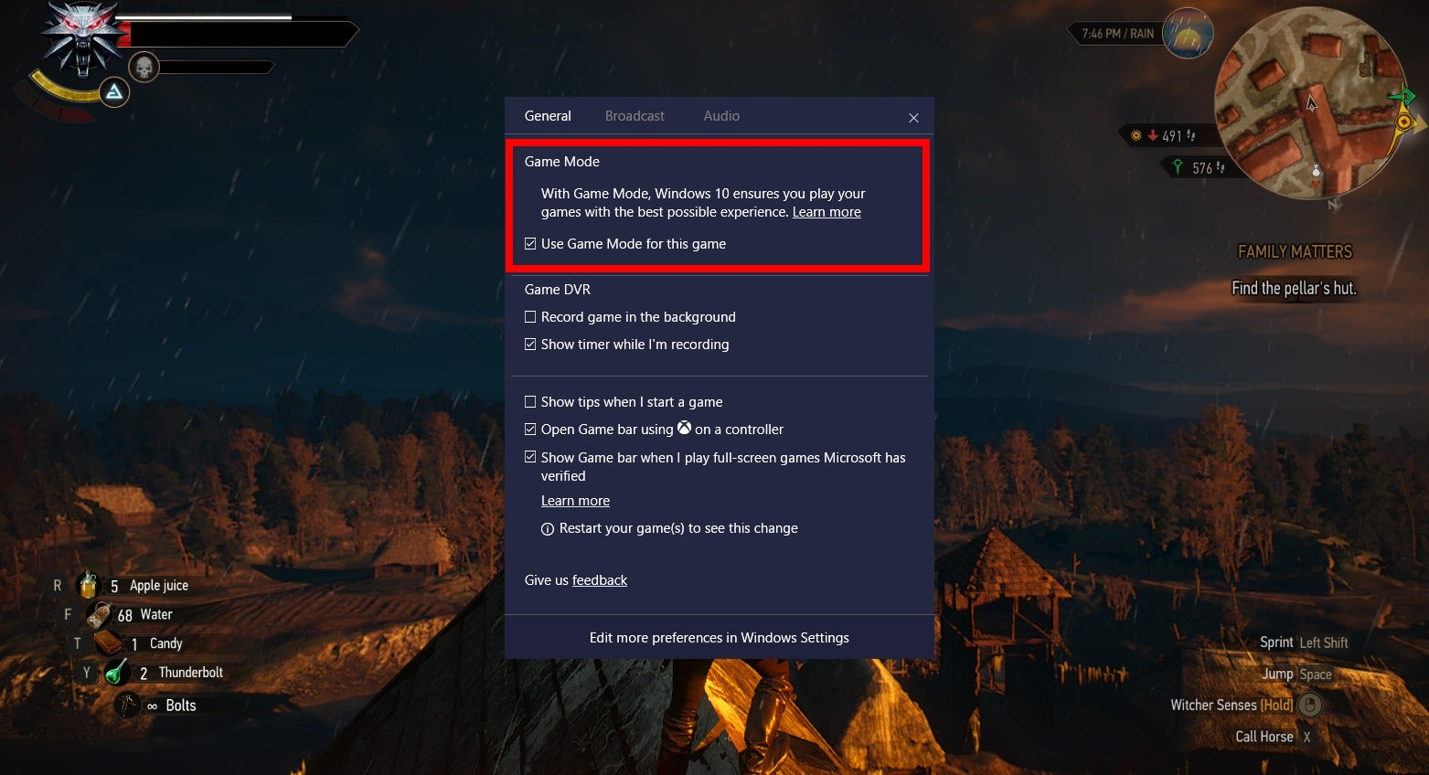 How to activate Game Mode in the Windows 10 Creators Update