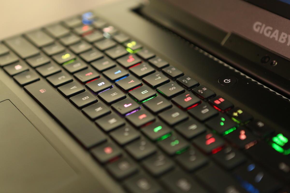 gigabyte aero 15 keyboard