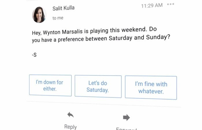 gmail smart replies