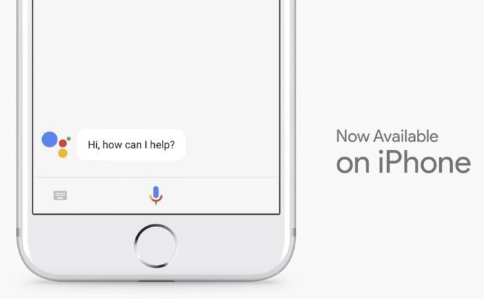 google assistant now on iphone