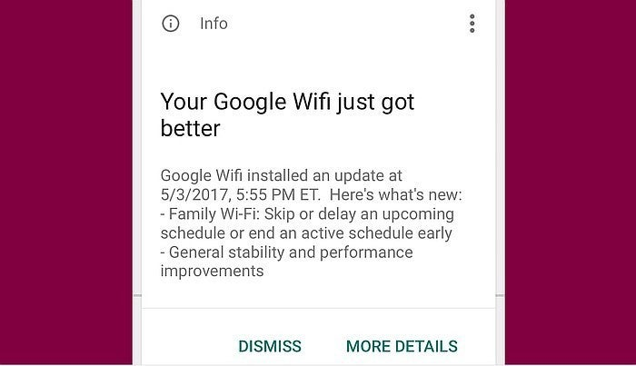 google wifi notification