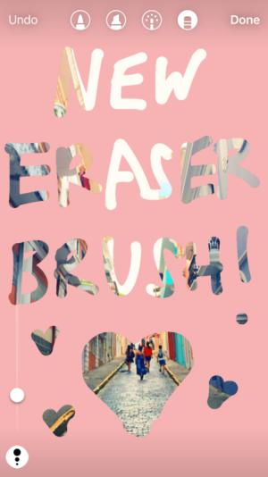 instagram eraser brush