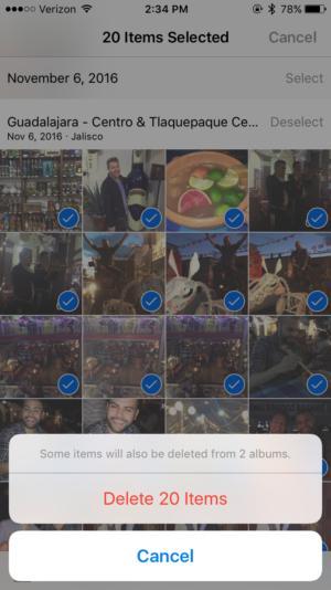 iphone photos bulk delete