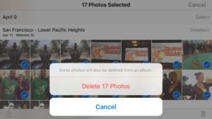 iphone photos how to bulk delete