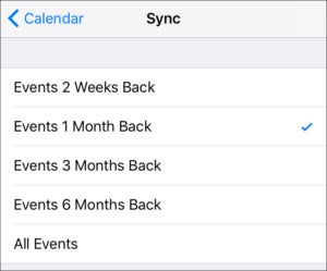 mac911 calendar ios sync setting