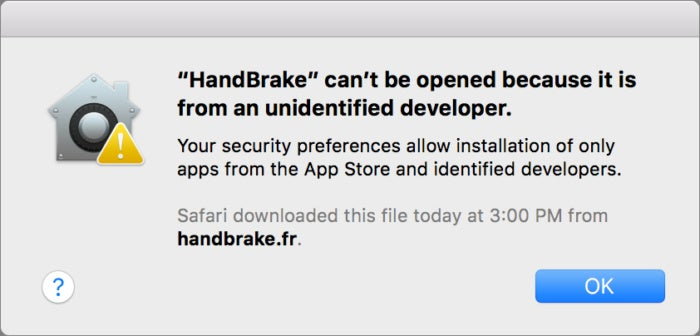 panic software hack unsigned handbrake