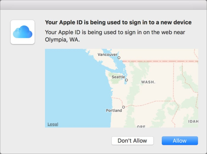 privatei apple 2fa location warning