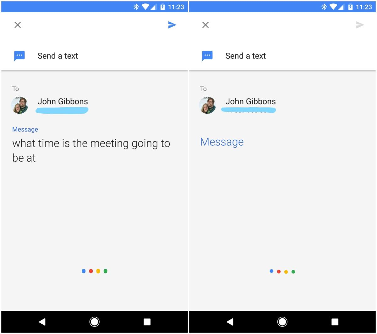 send text google assistant