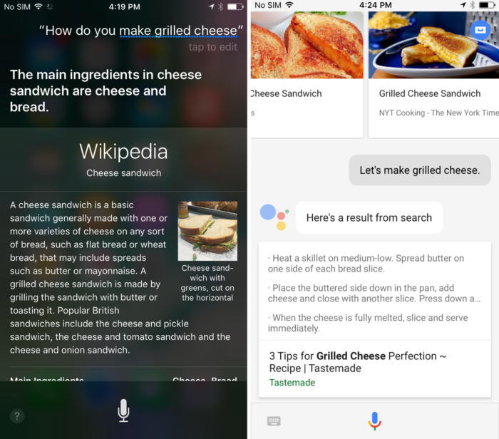 siri assistant recipes