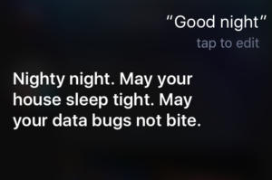 siri good night ugh