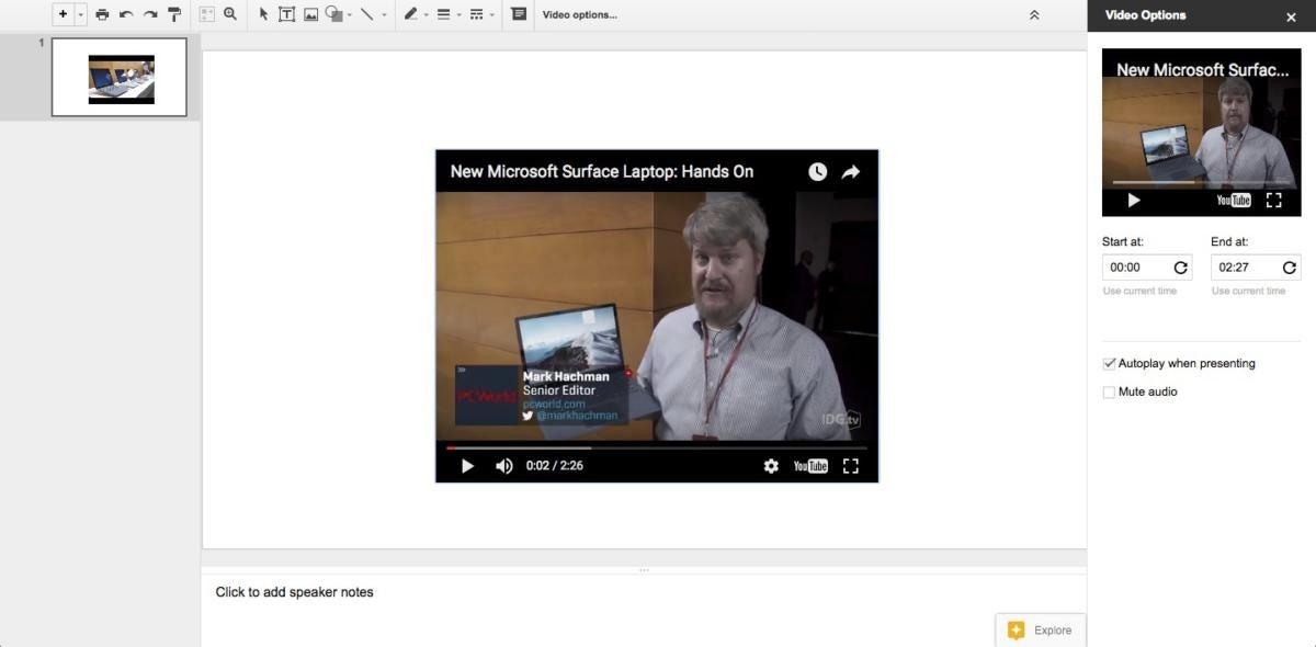 slides autoplay video