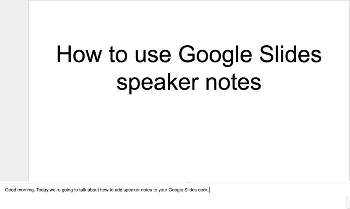 slides speaker notes