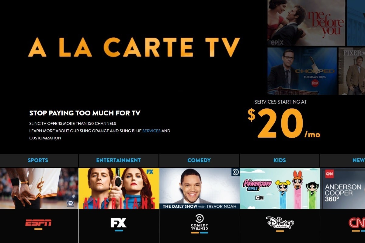 Sling Tv Misleads Cord Cutters With Its Quot A La Carte