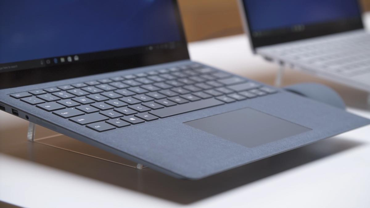 surface laptop open detail