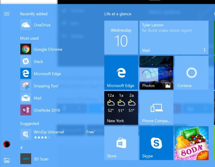 windows 10 neon transparency