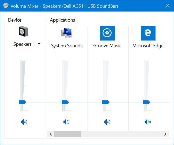 windows 10 preview sound