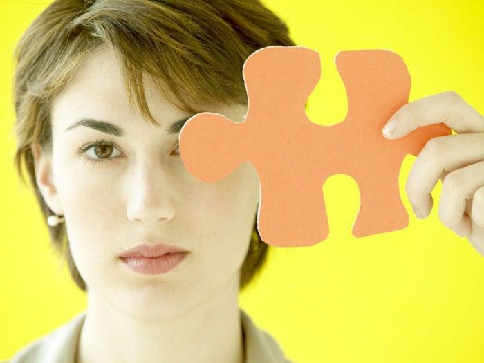 women puzzle piece