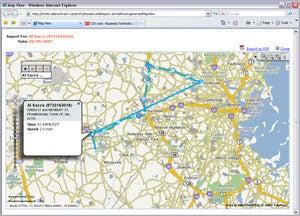 image of TeleNav Track 4.1 Breadcrumb report