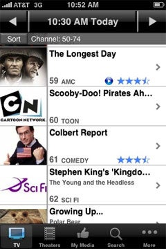 i.TV   television listings on the Apple iPhone