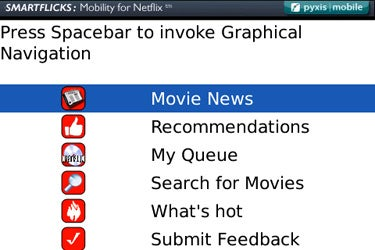 SmartFlicks on BlackBerry