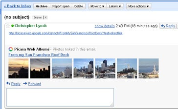Viewing online slideshows in Gmail
