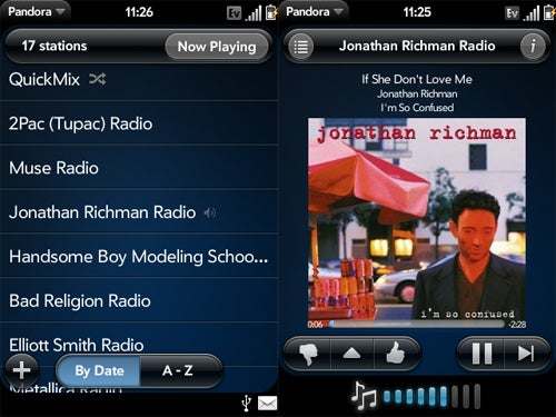 Pandora Radio for Palm Pre Screen Shots