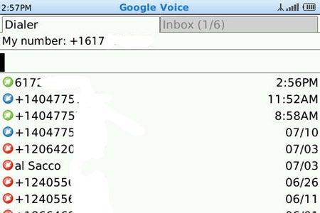 image of Google Voice for BlackBerry