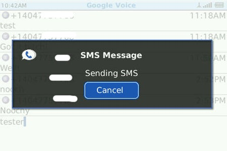 image of Google Voice for BlackBerry SMS Text