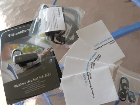 BlackBerry Wireless Headset HS-500 Packaging and Contents