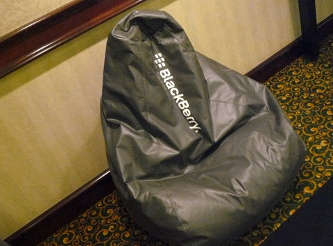 BlackBerry Bean-Bag Chair--A Fixture at RIM Conferences