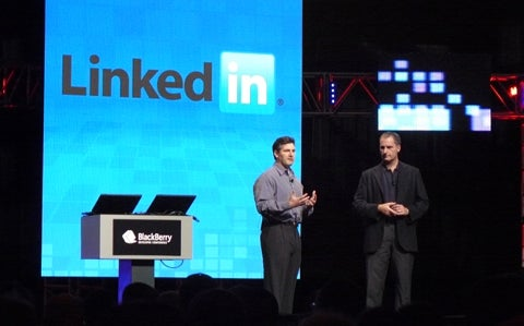 LinkedIn's Adam Nash with RIM's David Yach