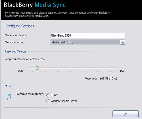 BlackBerry Media Sync 3.0