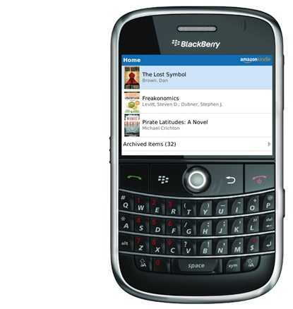 Amazon Kindle for BlackBerry on Bold 9000 Device