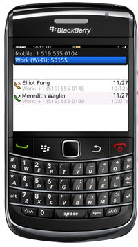 BlackBerry Devices with Mobile Voice System (MVS) 5 Screen Shot