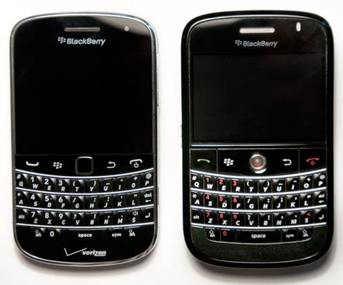 BlackBerry Bold 9930 with Bold 9000 (Image Credit: Brian Sacco)