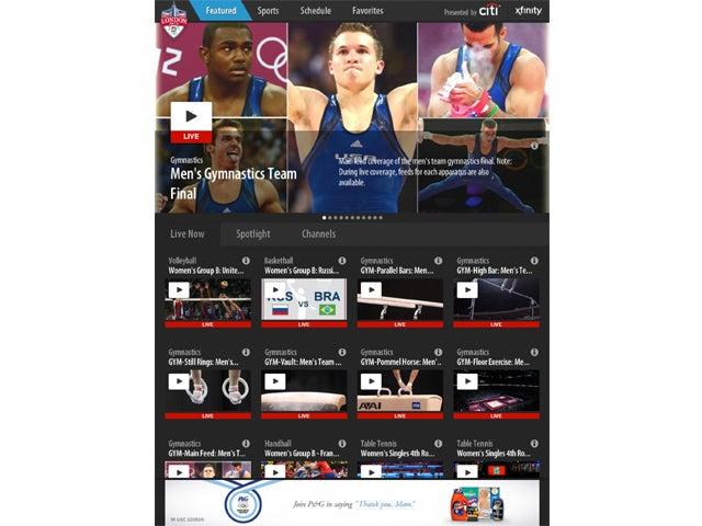NBC Olympics Live Extra iPad screen shot