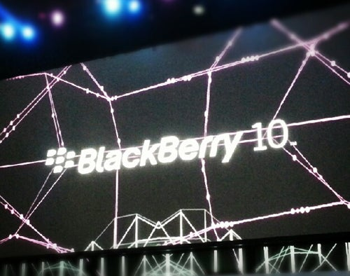 BlackBerry 10 logo at BlackBerry Jam Americas