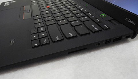 ThinkPad X1 Carbon keyboard view