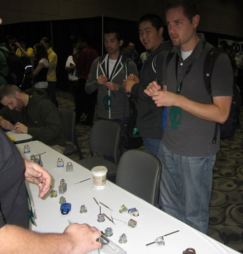 Lockpicking at GrrCon