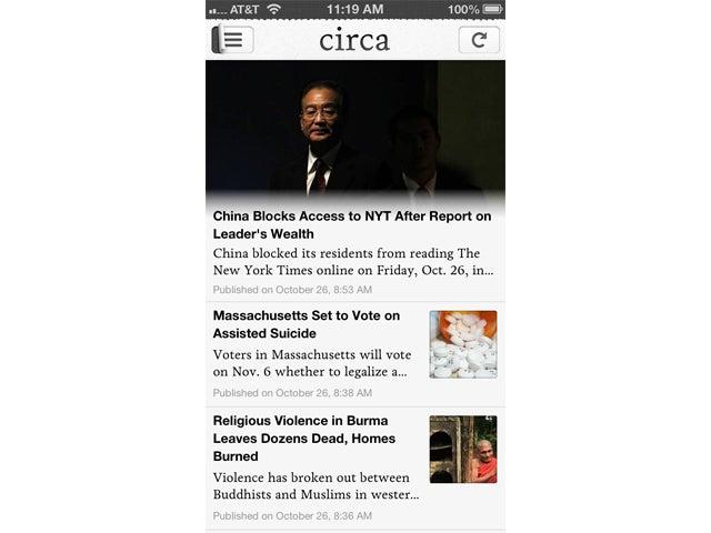 Circa News screen shot