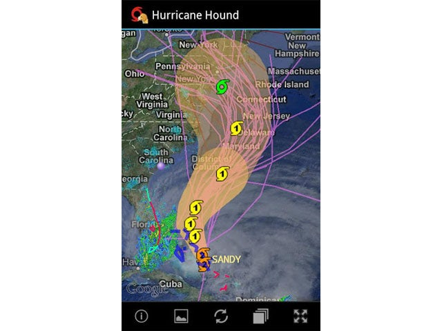 Hurricane Hound Android app
