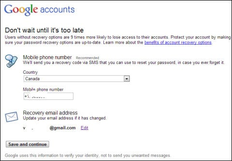 Google Analytics Account Verification Page