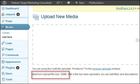 Upload New Media to WordPress