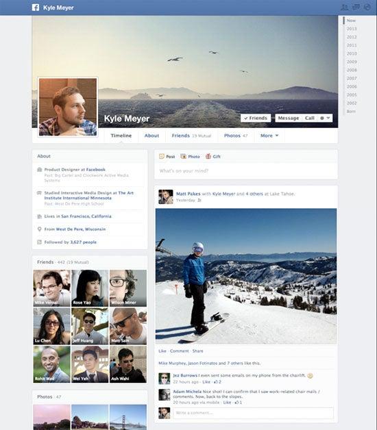 Facebook's redesigned Timeline