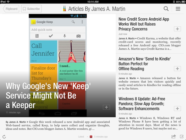 Flipboard 2.0 screen shot