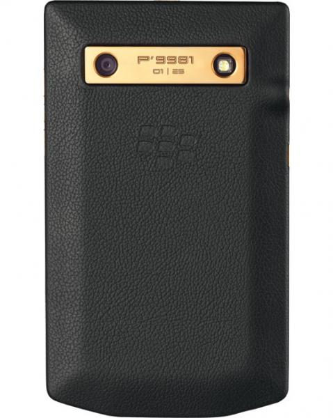 BlackBerry Porsche P'9981 gold rear